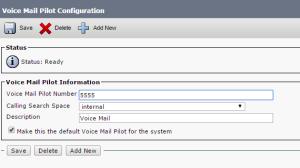 Voice Mail Pilot