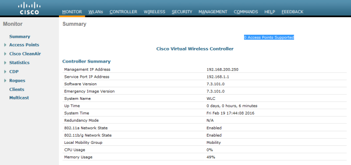 Installation of Virtual Wireless Controller (vWLC) | Root