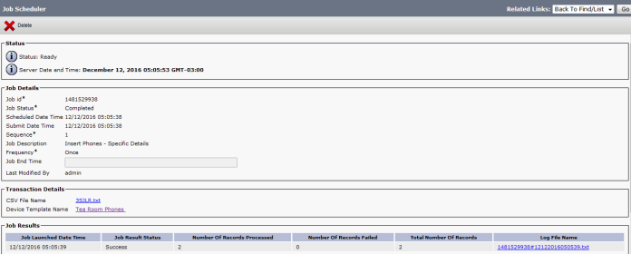 Cisco Bulk Administration Tool (BAT) | Root