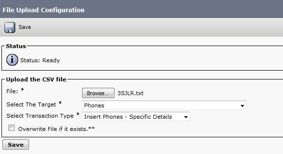 Cisco Bulk Administration Tool (BAT) | Root