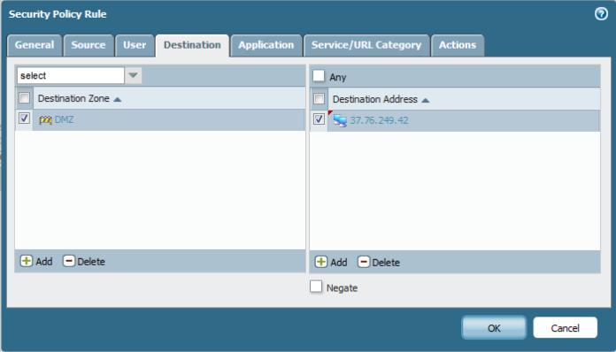 Configure Palo Alto to allow inside DMZ (FTP server) | Root
