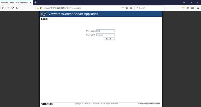VMware vCenter Server Appliance 5 5 (vCSA)   Root