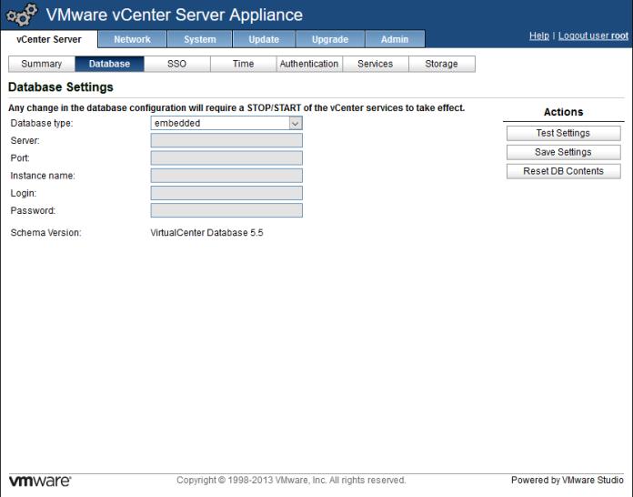 VMware vCenter Server Appliance 5 5 (vCSA) | Root